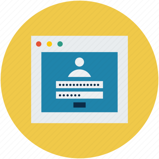 digital protection, safety concept, security concept, site login, web application login, website login icon