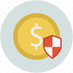 dollar shield, safe banking, safe business concept, safe money concept, secure banking, secure business icon
