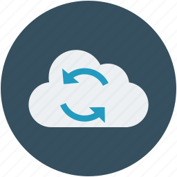 cloud computing concept, cloud network, cloud refresh, cloud sync, cloud with refresh sign icon