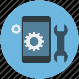 mobile options, mobile setting concept, mobile settings, mobile tools, setting tools icon