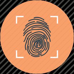 fingerprint identification, fingerprint inspection, fingerprint investigation, fingerprint scanner, fingerprint scanning icon