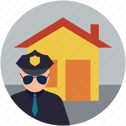 home protection, home with security, safety concept, security concept, security guard icon