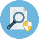 documentation safety assurance, documents safety, protection, safety concept, secure documentation concept icon