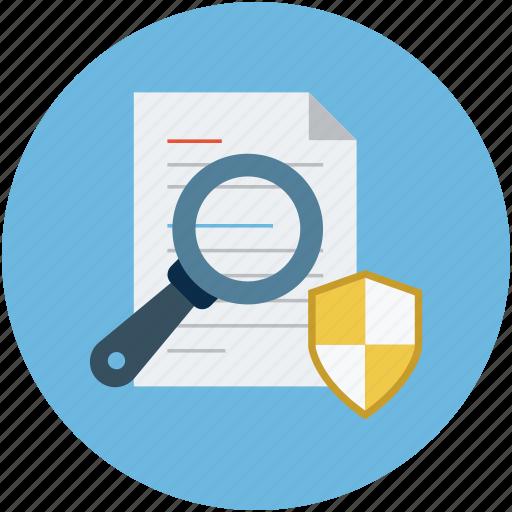 documentation safety assurance, documents safety, protection, safety concept, secure documentation concept icon