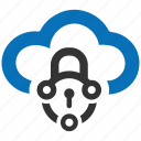 cloud, encryption, firewall, guard, security, shield icon
