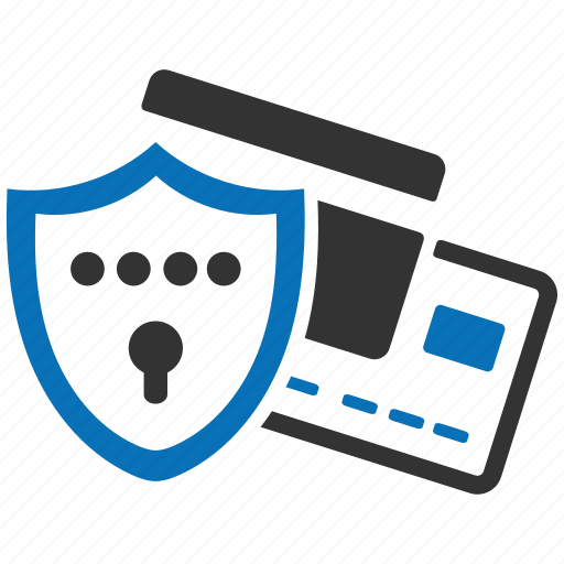 creditcard, encryption, firewall, guard, protection, shield icon