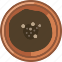 earth, earthen, flowerpot, gardening, seeding, seeds, yumminky icon