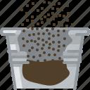 earth, flower, pot, pouring, seeding, tin, yumminky icon