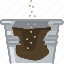 flower, pot, pouring, seeding, seeds, tin, yumminky icon