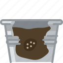 flower, gardening, pot, seeding, seeds, tin, yumminky icon
