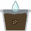 flower, pot, seeding, seeds, tin, watering, yumminky icon