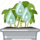 flower, plant, pot, seeding, tin, watering, yumminky icon