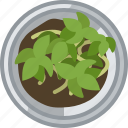 flower, gardening, plant, pot, seeding, tin, yumminky icon