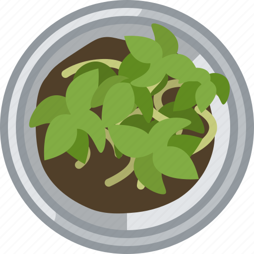 flower, gardening, plant, pot, seeding, tin, yumminky icon