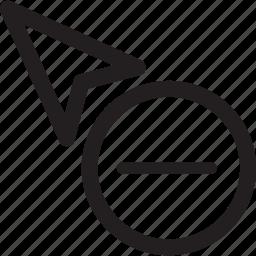circle, cursor, delete, minus, selection icon