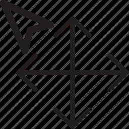 arrows, computer, cursor, direction, select icon