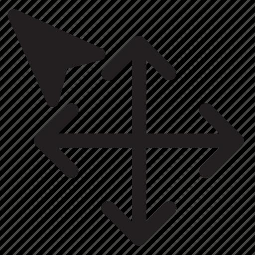 arrow, cursors, move, select, selection, technology icon
