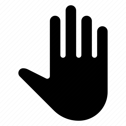 drawn, finger, gesture, hand, open icon