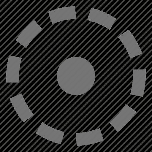 area, circle, select icon