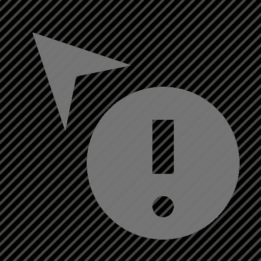 alert, arrow, cursor, error, exclamation icon