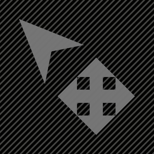 all direction, arrow, cursor icon