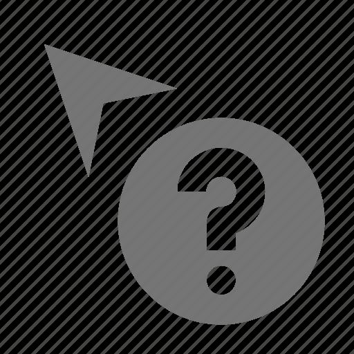 arrow, cursor, help, question icon