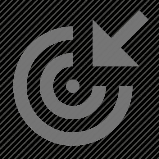 arrow, cursor, target icon
