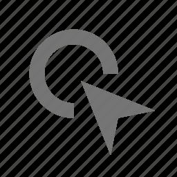 click, cursor icon