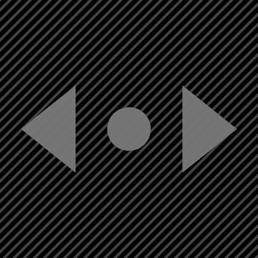 cursor, horizontal icon