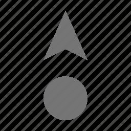 cursor, cursor up icon