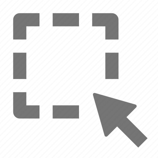 area, arrow, cursor, select icon