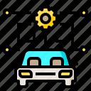 car, driving, ecu, self, self driving, vehicle icon