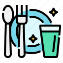 covid, cutlery, hygiene, protection, restaurant, self, spoon icon
