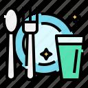 covid, cutlery, hygiene, protection, restaurant, self, spoon