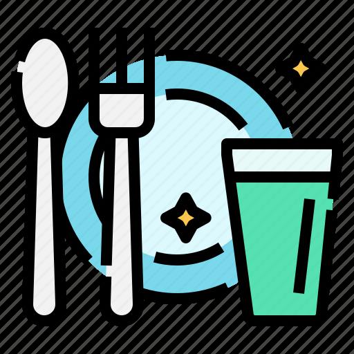 covid, cutlery, hygiene, protection, restaurant, self, spoon icon