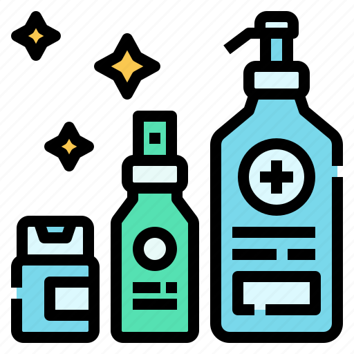 covid, gel, hand, healthcare, protection, self, spray icon