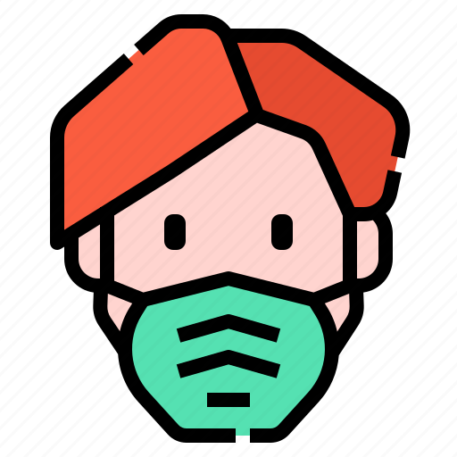 covid, healthcare, hygiene, mask, medical, protection, self icon