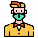 bacteria, doctor, healthcare, mask, protection, self, virus icon