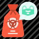 bag, biohazard, covid, garbage, protection, virus, waste icon