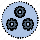 engine, function, operation, process, system icon