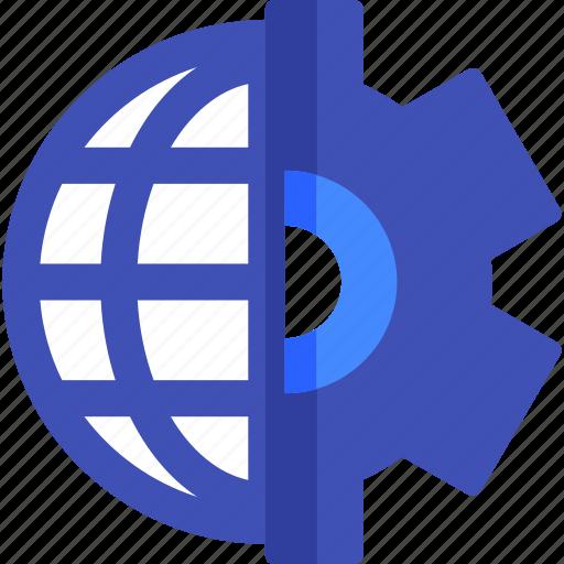 developement, development, gear, network, seo, social, web icon