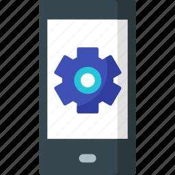 app, developement, development, device, mobile, setting, smartphone icon