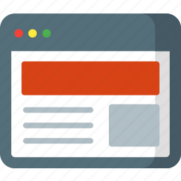 above, banner, fold, page, seo, ui, web icon
