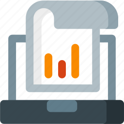 analysis, analytics, diagram, graph, paper, report, seo icon