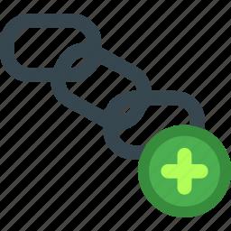 add, building, chain, link, plus, seo, web icon
