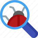 bug, search, find, magnifier, magnifying, optimization, seo