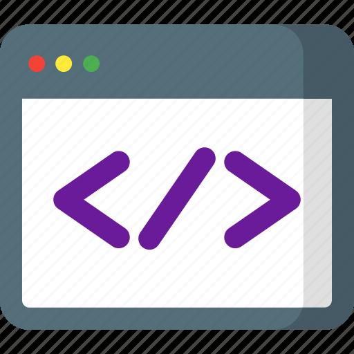 code, coding, custom, development, html, programming, seo icon