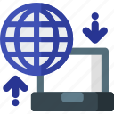cloud, data, hosting, internet, network, server, transfer icon