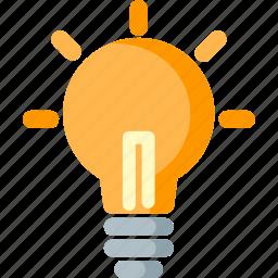 bulb, creative, creativity, electric, idea, lamp, lightbulb icon