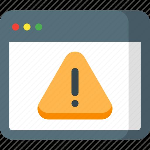 browser, error, internet, page, seo, web, website icon